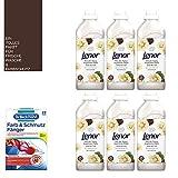 1 litro/ 5,33 €) 6 X 780 ML ammorbidente Lenor – Set/fragranze ispirate alla natura/burro di karitè/156 WL/un meraviglioso profumo.