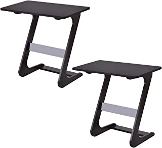 TANGKULA Sofa Table, Z Style Portable Home Laptop Writing Wokstation TV Snack, End Side Table Laptop Desk Coffee End Table Bed Side Snack Table (2, Wood Brown)