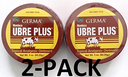 Germa Manteca Ubre Plus Ointment 3 oz. Lata 2-Pack.