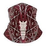 Más cálido cuello Polaina rojo Diablo Satanás Cuernos de Cabra Pentagrama Magia Ritual Mascarilla para hombres mujeres Bandanas para la pesca Caza Deportes