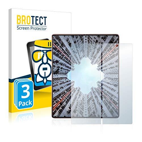 BROTECT Panzerglas Schutzfolie kompatibel mit Samsung Galaxy Z Fold 2 5G (Inneres Bildschirm) (3 Stück) - AirGlass, extrem Kratzfest, Anti-Fingerprint