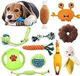 TOPSEAS Juguetes para Perros,12 Piezas Juego de Juguetes para Perros,Cuerda para Masticar,Frisbee,Juguete de Peluche,para Perrito Pequeño Medio Solitario para Mantener a su Perro Sano
