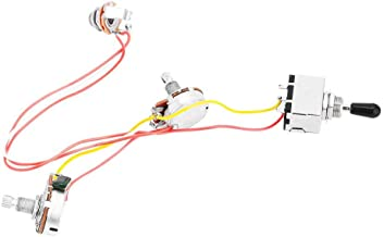Guitar Wiring Harness Prewired 3 Way Chrome Box Toggle Switch 500K Pots for LP Electric Guitar with 2 Humbuckers