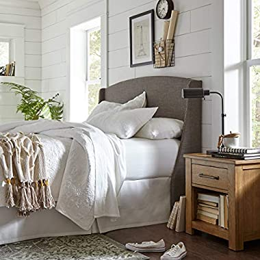 Stone & Beam Vintage-Inspired Floral Embroidery Coverlet Set, King, 102  x 90 , White