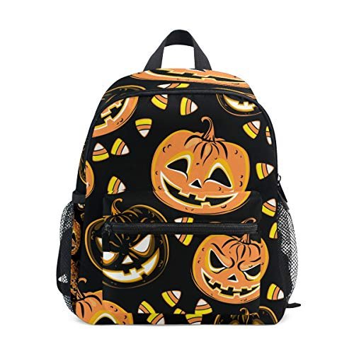 Halloween Calabaza Caramelo Niño Mochila Escuela Bolsa Librero Niños Viaje Daypack Niña Niño 3-8 Años Niño Preescolar