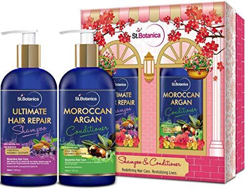 Glamorous Hub StBotanica Ultimate Hair Repair Champú + Acondicionador de Cabello de Argán Marroquí 300ml (El Embalaje Puede Variar)