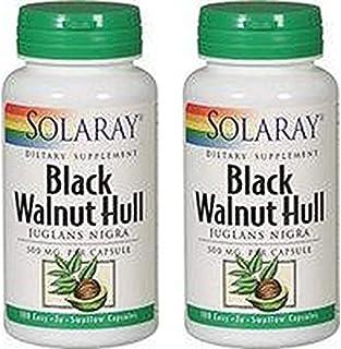 Solaray Black Walnut Hull 500mg Solaray 100 VegCaps (2 Pack)