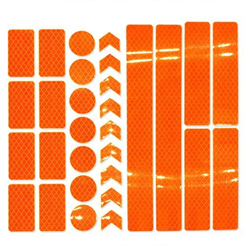 JCstarrie Reflektor Aufkleber-30 stücke Retro Reflektierende Aufkleber Klebeband Kit Nachtsichtbarkeit Sicherheit Universalkleber für Fahrrad Auto Kinderwagen Buggy Helm Motorrad Roller Spielzeug