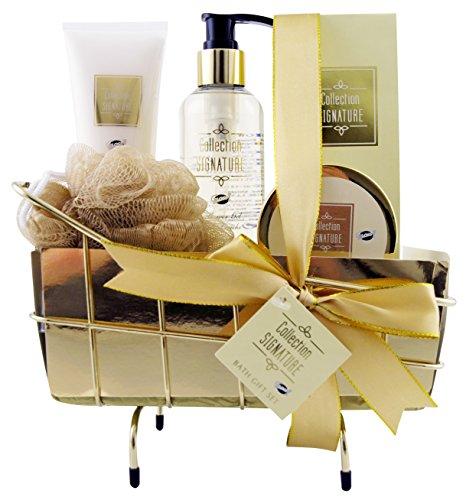 Gloss! Badewanne Metall Signature - Vanilla Ginger - 5 Stück, 1er Pack (1 x 800 g) Geschenk-Box - Bade-Geschenk