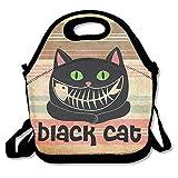 Bolsa de almuerzo de impresión para gato negro