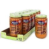 Hero Baby - Tarrito de Menestra de Verduras con Ternera y Jamón, Ingredientes Naturales, para Bebés a Partir de 6 Meses - Pack de 12 x 235 g