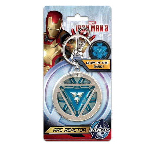 Iron Man Arc Reactor Pewter Key Ring