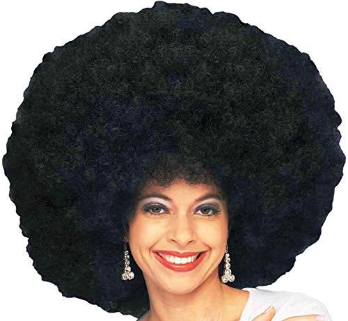 Forum Novelties womens 70's Disco Deluxe Jumbo Afro Costume Wig, Black, One Size US