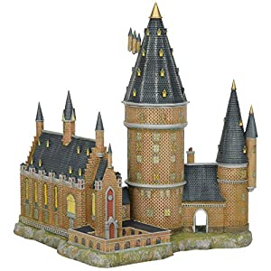 Hogwarts Hall & Tower Harry Potter Village Lighted Building Standard 7
