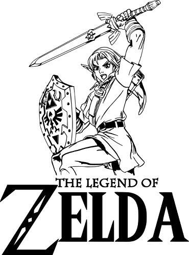 40x58cm Comic The Legend of Zelda Game DIY/Boy Home Sticker Etiqueta de la pared DIY Art Decal