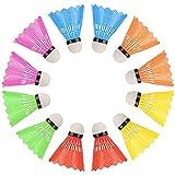 Volani in Plastica Badminton Palla Alta Velocità Piuma Formazione Badminton Palle Badminton Birdies Palle Da Interni Esterni Spettacolo Sport Gioco Colore Casuale 12pcs