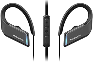 Panasonic Wings Headphones – Ultra Light Sports Clip Around Ear Bluetooth Wireless (RP-BTS55-K) (Black)