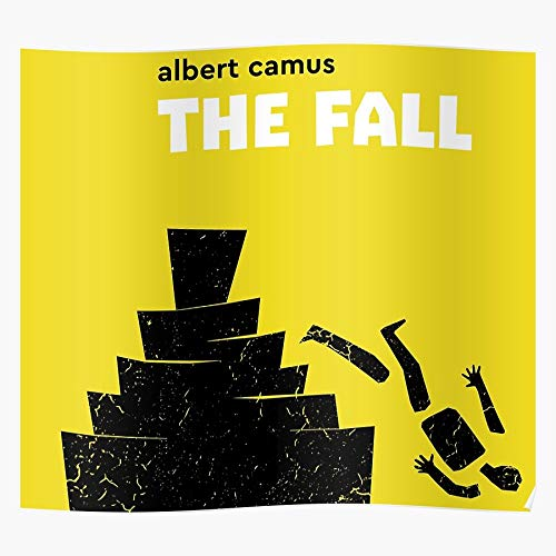 La Book Novel Fall Philosophy Albert Philosophical Camus Regalo para la decoración del hogar Wall Art Print Poster 11.7 x 16.5 inch