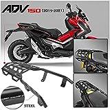Motorcycle Black Rear Luggage Cargo Rack Extended Shelf Bar Carrier Top Mount Bracket Plate Kit for 2019 2020 2021 Honda ADV 150 ADV150 ADV-150 Motorbike Parts 19-21