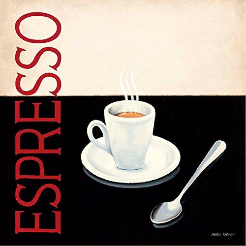 Marco Fabiano Espresso 30 x 30 cm cadre impression sur Panneau en bois MDF bord noir