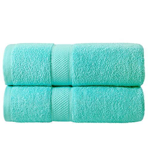 Todd Linens Juego de 2 toallas de baño Bale – 500 g/m² 100% algodón azul accesorios de baño...