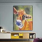 GJQFJBS Animal Canvas Print Gemälde Wohnzimmer Dekoration Gemälde Ölgemälde Wandkunst Bild Abstrakte Kunst A4 60x90cm