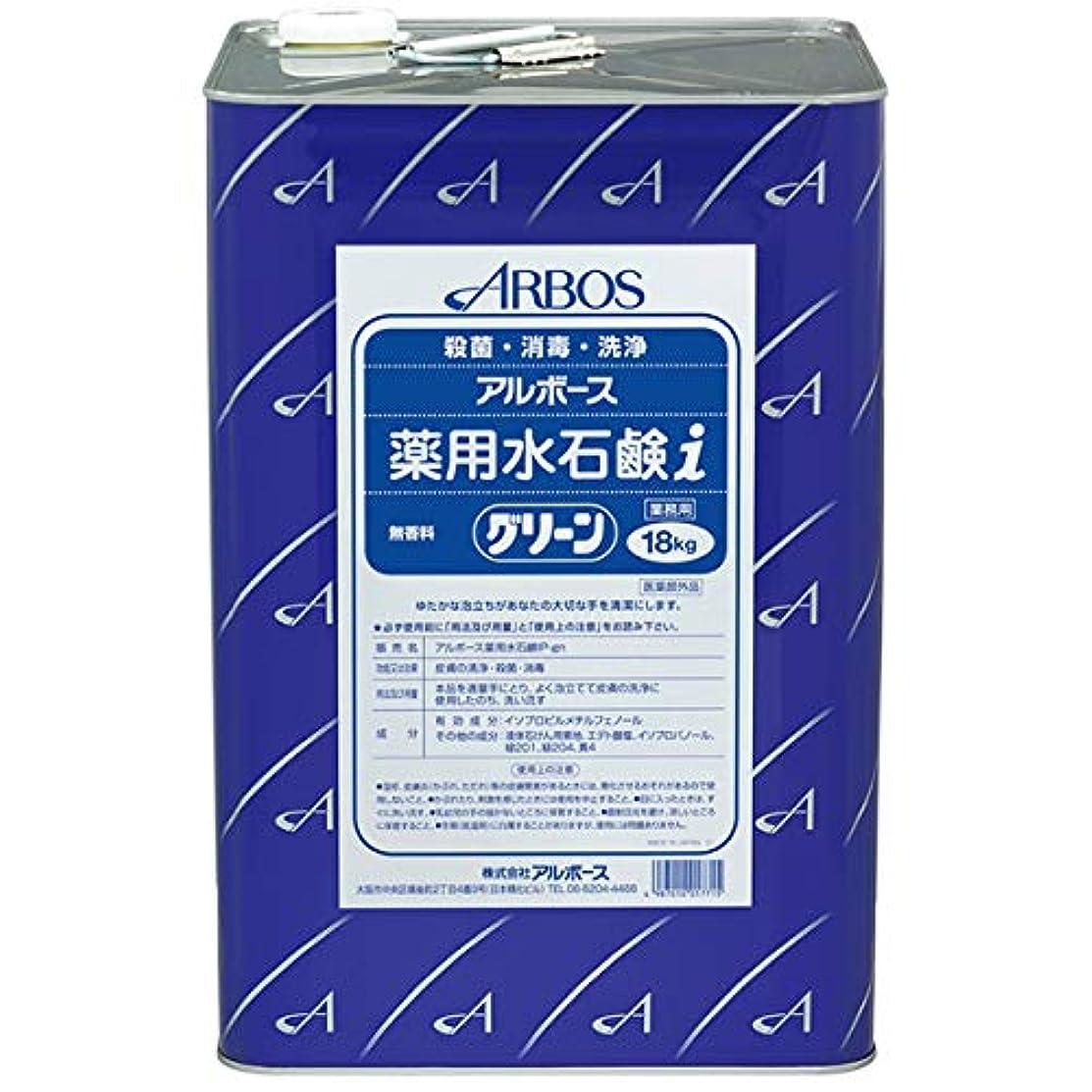 非行混乱させるブレス【清潔キレイ館】アルボース薬用水石鹸グリーンi(18L)