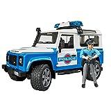 Bruder 2595 - Land Rover Coche de Policía con sirena y policía