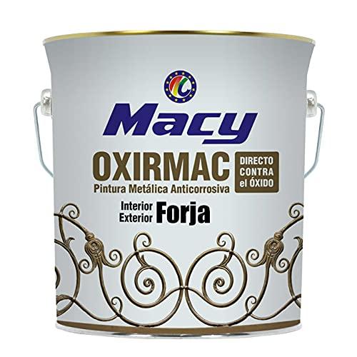 Esmalte Antioxidante Oxirmac Macy Efect Forja para Interior y Exterior. 375 Mililitros. Color Gris Plata