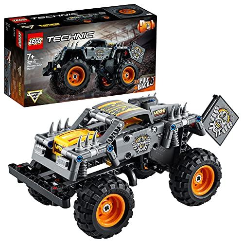 LEGO 42119 Technic 2en1 Monster Jam MAX-D, Juguete de Camión y Quad, Set de Construcción, Cumpleaños para Niños a Partir de 7 Años
