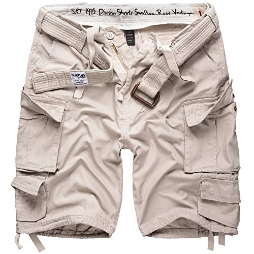Surplus Division Herren Cargo Shorts, off-white, L