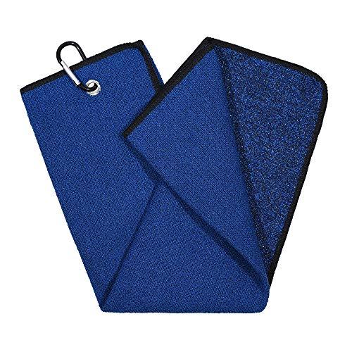 Mile High Life   Toalla de golf de microfibra triple   Diseño de doble cara (azul marino/negro)