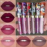 Ownest 6 Color Lipstick Set,Skull Face Matte...