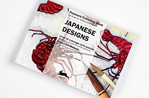 Libro de Artistas Colorear 20 Postales Diseños JAPANESE JAPON Postal 6068 7068