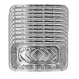 fregthf Papel de Aluminio Bandeja de Goteo portátil desechable Papel de Aluminio Recipientes para Alimentos Bandejas Juego de Cocina Accesorios de Cocina para Hornear 10PCS