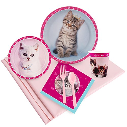 BirthdayExpress Rachael Hale Glamour Cats Party Supplies - Party Pack for 24
