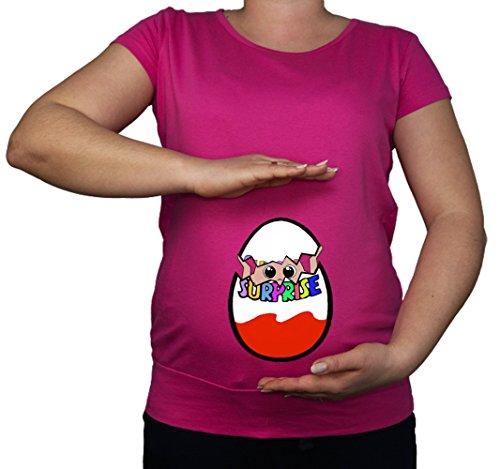 Tunique de grossesse en coton imprimé - Imprimé bébé - Taille 38 - 48 - Rose - Medium