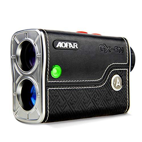 AOFAR GX-5N Telémetro de Golf con Pendiente de Encendido/Apagado,800m,con Bloqueo de Bandera y vibración, con Aumento de 6 aumentos de medición de Alta precisión, Resistente al Agua, batería,