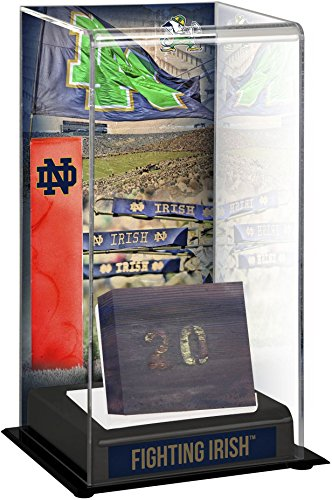 Notre Dame Fighting Irish Tall Display Case with Bench From Notre Dame Stadium - Other College Game Used Items