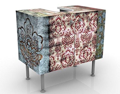 Apalis Waschbeckenunterschrank Old Patterns 60x55x35cm Muster Tapete Ornamente Grunge, Größe:55cm x 60cm