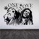 Marley Lion Reggae vinilo pared pegatina pared calcomanía Mandala Yoga flor pared decoración Mural