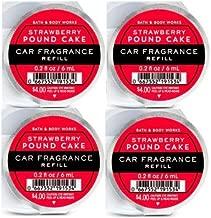 Bath and Body Works 4 Pack Strawberry Poundcake Scentportable Car Fragrance Refill Oz.