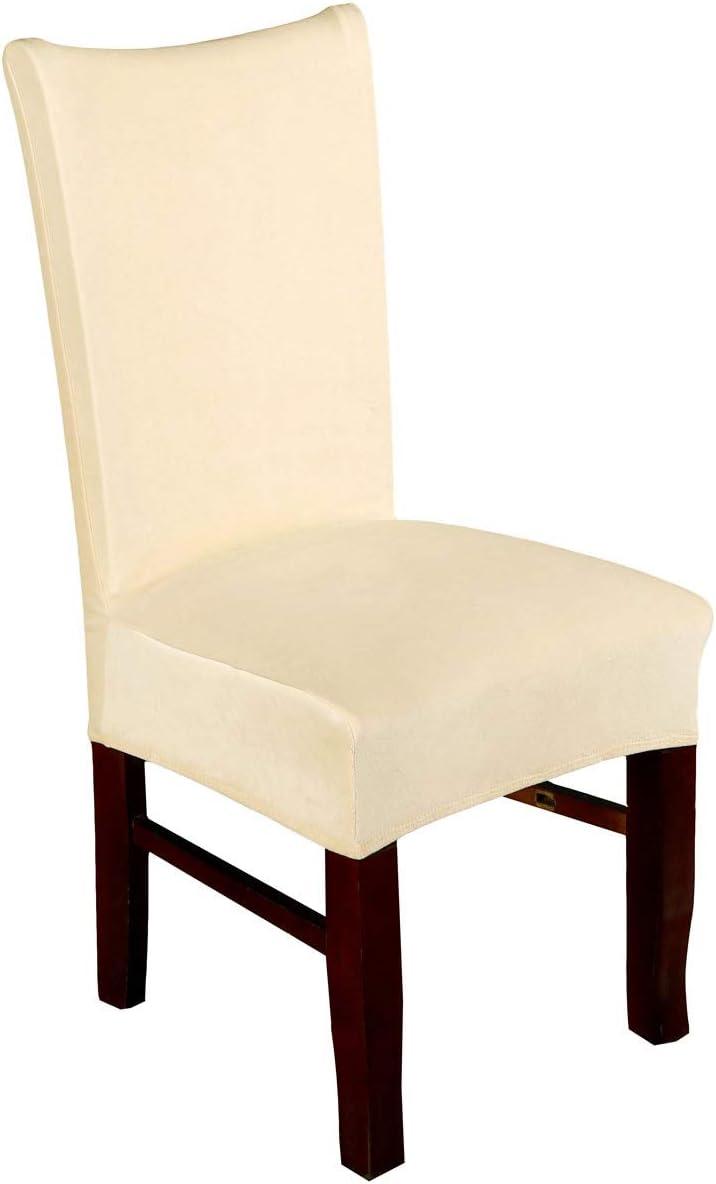 SoulFeel サービス Spandex Velvet Chair Covers Slipco Dining Stretch 送料込