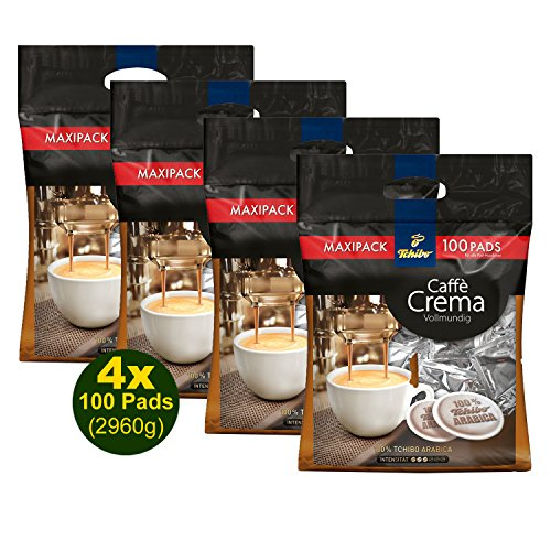 Tchibo Caffé Crema Vollmundig 100 Pads 4x 740g (2960g) - Arabica, Maxipack