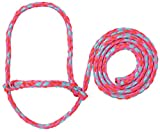 Weaver Leather Livestock Poly Rope Sheep Halter Hot Pink/Coral/Mint