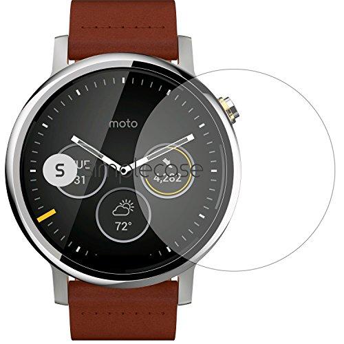 Simplecase Panzerglas passend zu Motorola  Moto 360 2 46 mm , Premium Bildschirmschutz , Schutz durch Extra Festigkeitgrad 9H , Hülle Friendly , Echtglas / Verb&glas / Panzerglasfolie , Transparent - 1 Stück