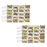 大和玩具 「 きかんしゃトーマス 」 木製キーホルダー コンプリートセット 全20種類×2 508247 ベージュ 4.7×2.8cm