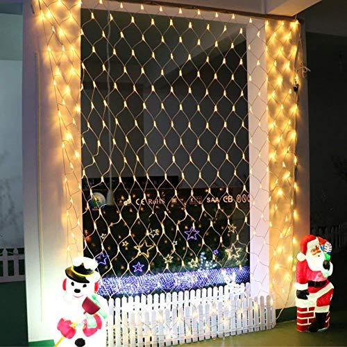 YUNDING Lights Mesh Fairy Lights Decoration Outdoor LED Net Light Garden Decorative Waterproof 220V 110V Wedding Party Holiday(Color:1.5mX1.5m)