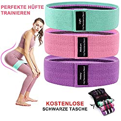 IGYLAR Resistance Hip Bands, Fitness Band Training Bands Fitness Bands Set in 3 different tensile strengths Resistance bands for leg training, strength training and pull-ups