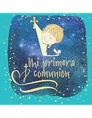 Libro de firmas comunion niño: Libro de comunión personalizado e original - Regalo para primera comunión de niño. Español